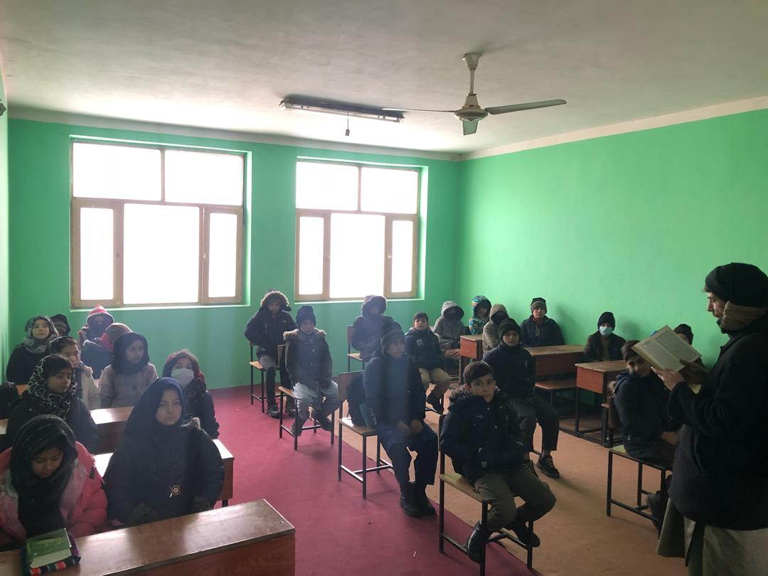 Winterschool class with Religion teacher